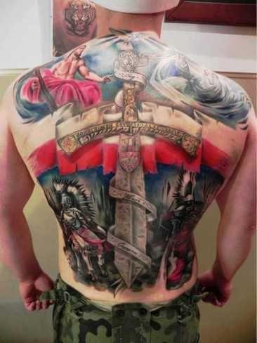 Tutuaż Całe Patriotyczne Plecy Max Tatuaże Męskie