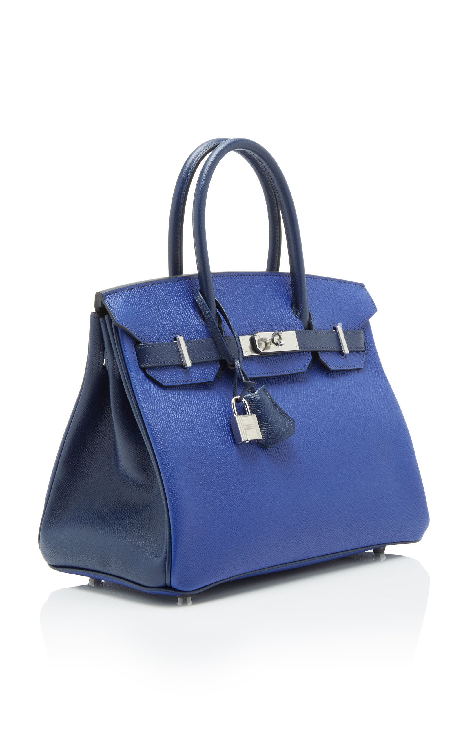 cb5e22c47221 Hermes 30cm Blue Electric and Blue Saphir Epsom Leather Birkin ...