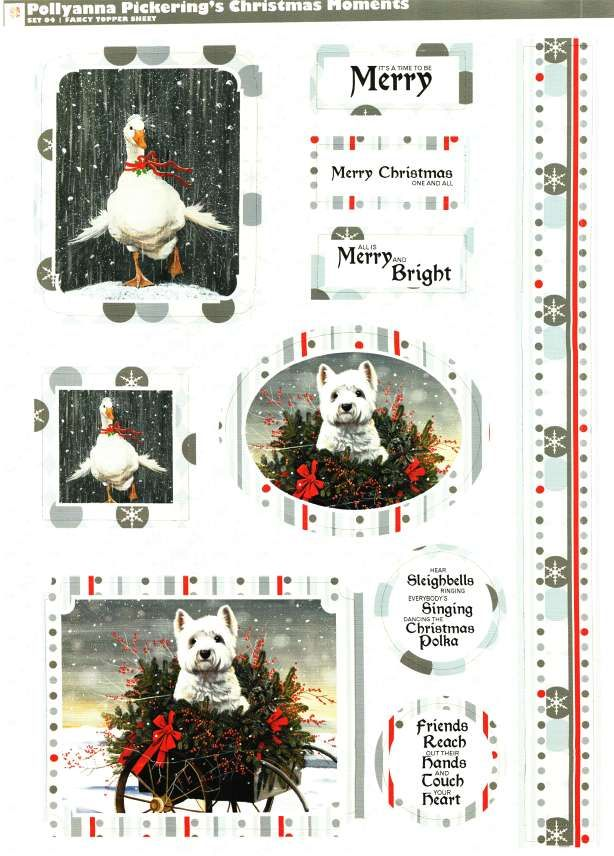pollyanna pickering christmas moments die cut toppers paper westie goose 1 - Christmas Pollyanna
