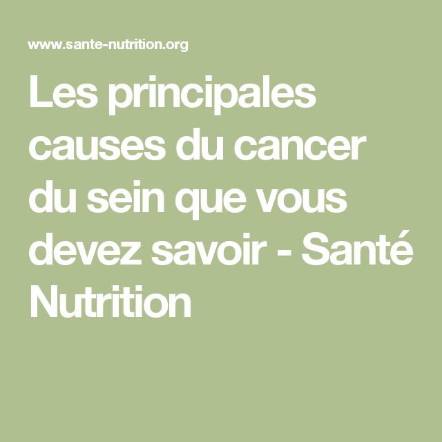 Les principales causes du cancer du sein que vous devez savoir - Santé Nutrition