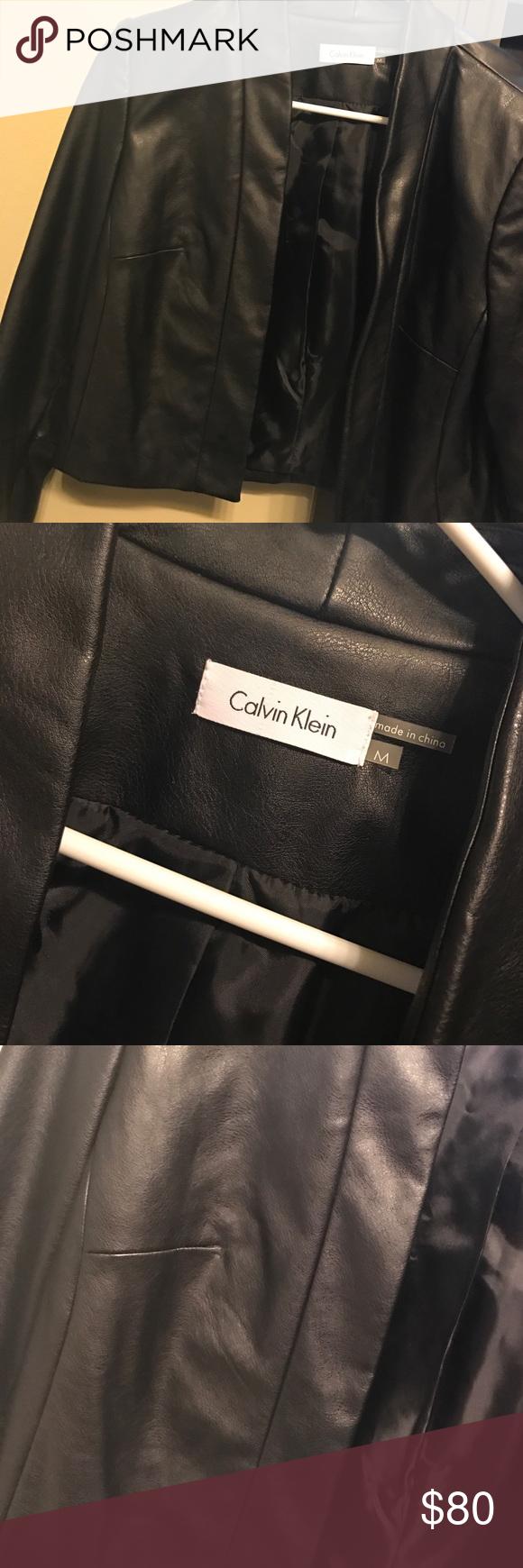 Calvin Klein Leather Jacket Fake Leather Nwot Calvin Klein Jackets Coats Calvin Leather Calvin Klein