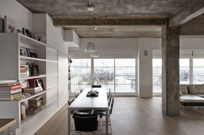 A loft apartment in a former factory in london was designed by new