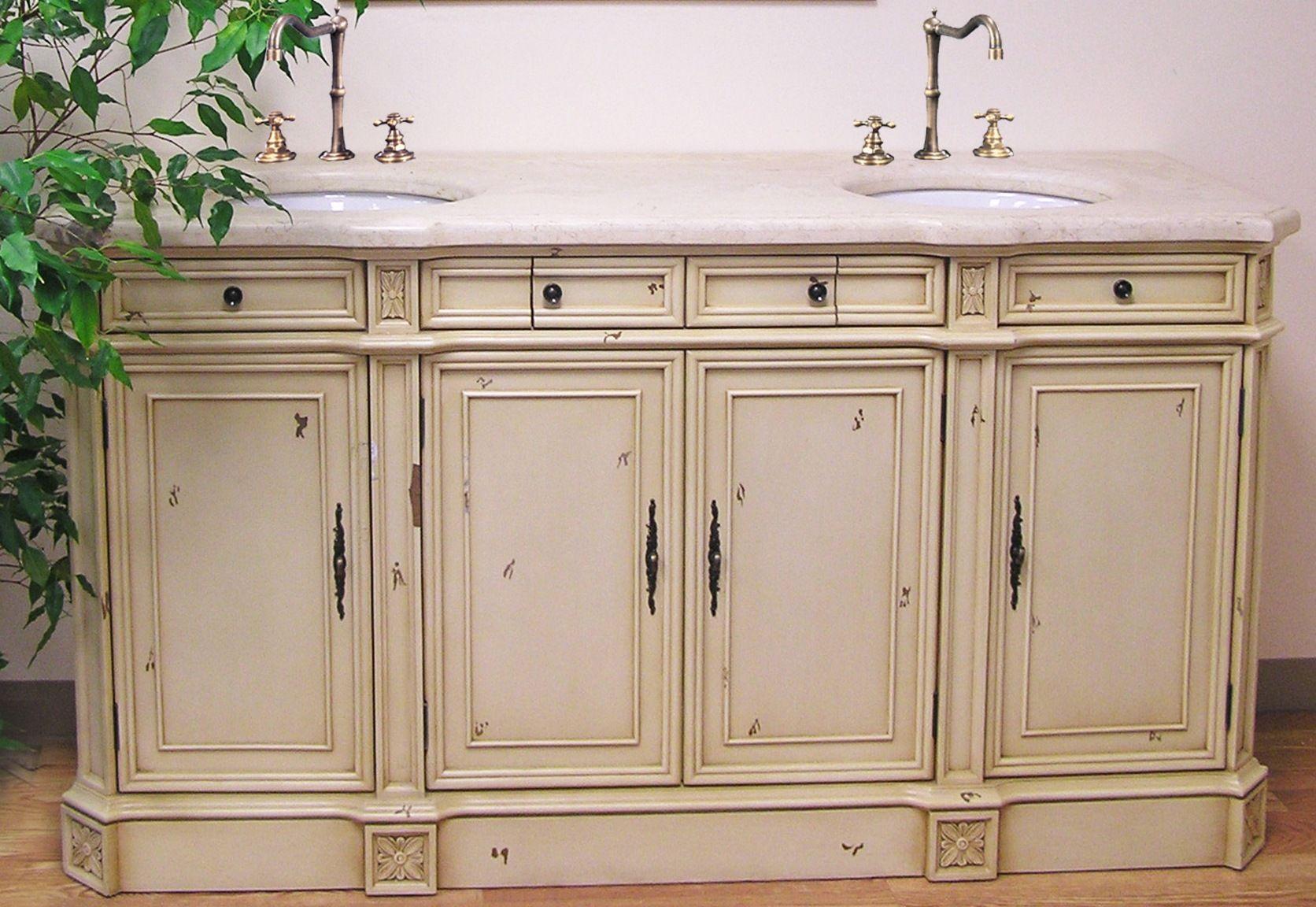 Double Vanity In Ebony Finish W Slat Shelf 2 Drawers 2 Sinks Buy Bathroom Fu White Double Sink Bathroom Vanity Double Sink Bathroom Vanity Slatted Shelves