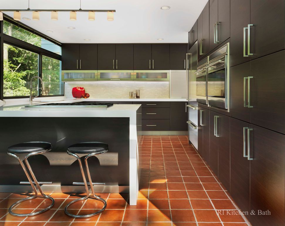 modern kitchen with terracotta floor - google search | floor