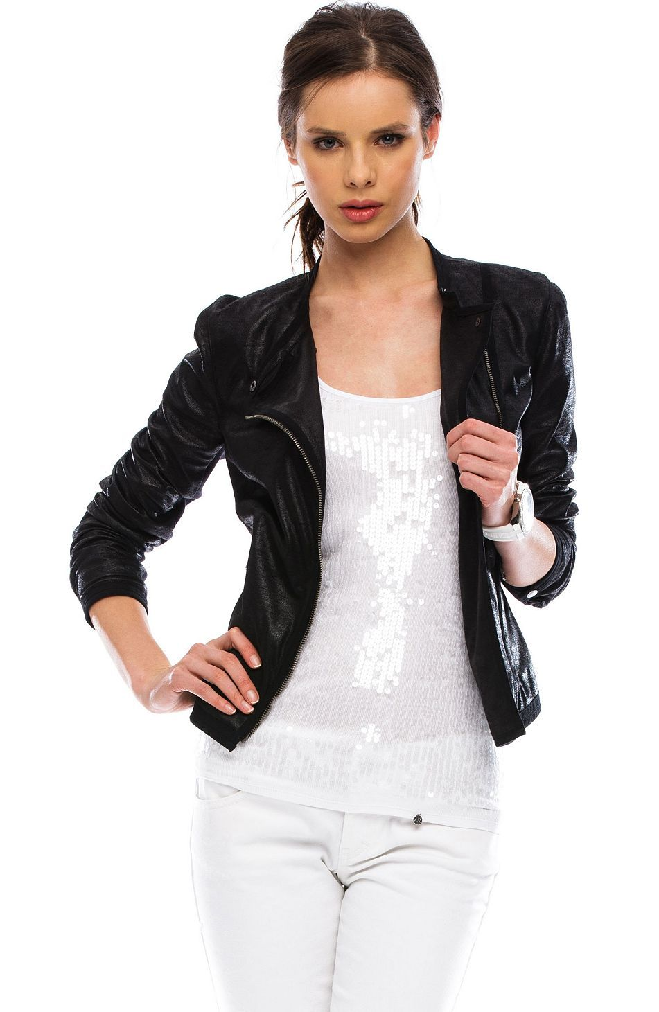 Faux Suede Moto Jacket Armani Exchange (With images