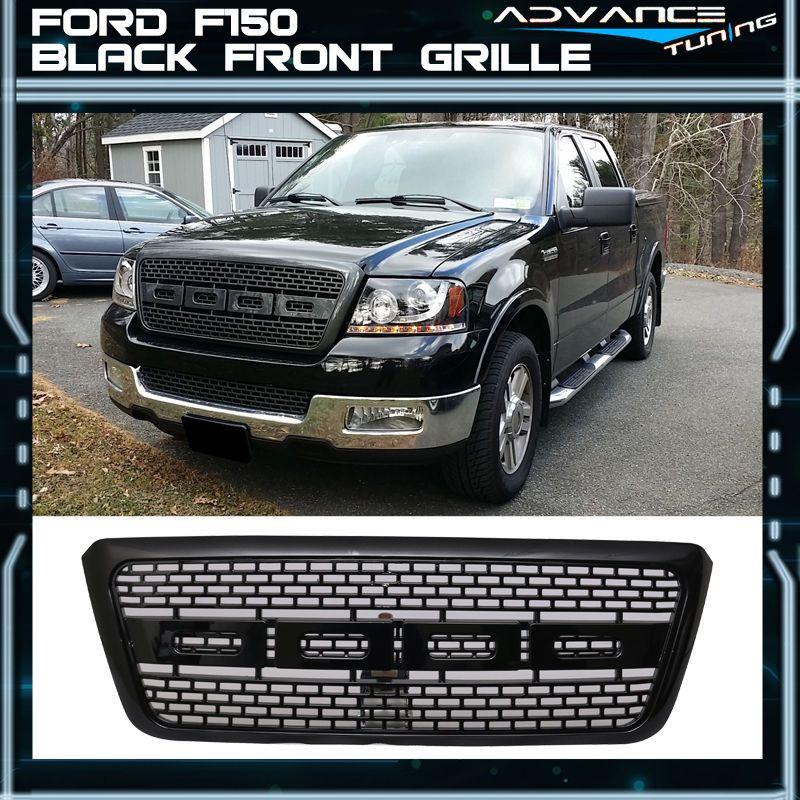 For 04-08 Ford F150 Billet Style Front Bumper Grille Black Grilles ...