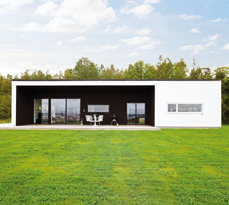 Weiss und holz kombinieren modern houses moderne architektur architektur und haus - Bungalow moderne architektur ...