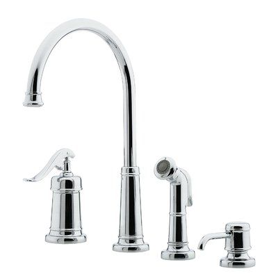 Pfister Ashfield Single Handle Kitchen Faucet With Side Spray And