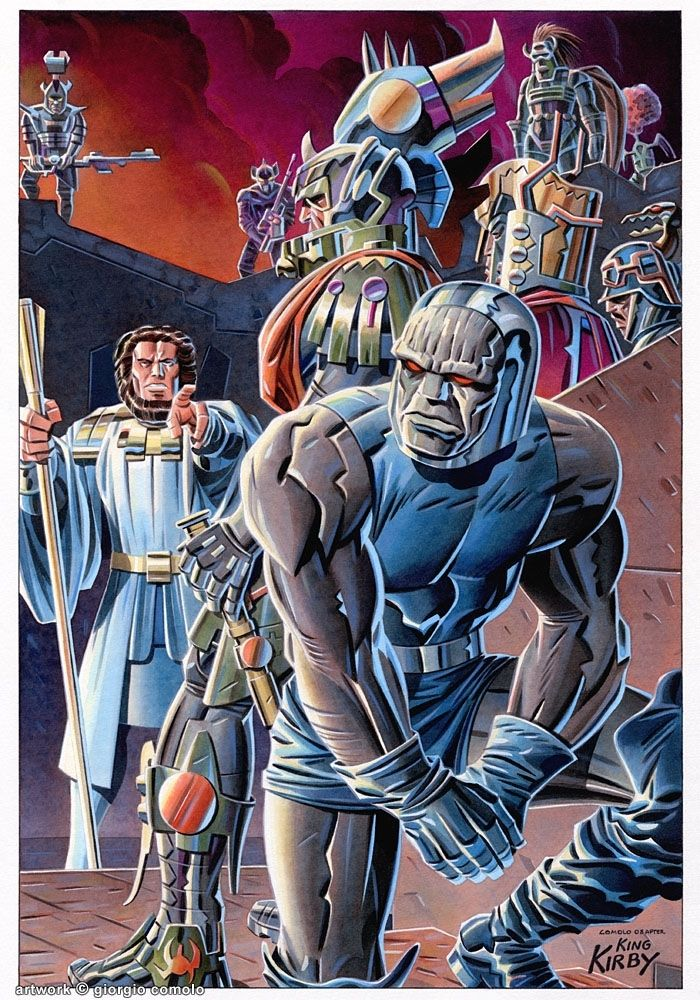 New Gods Splash Tribute by Giorgio Comolo | space | Comics