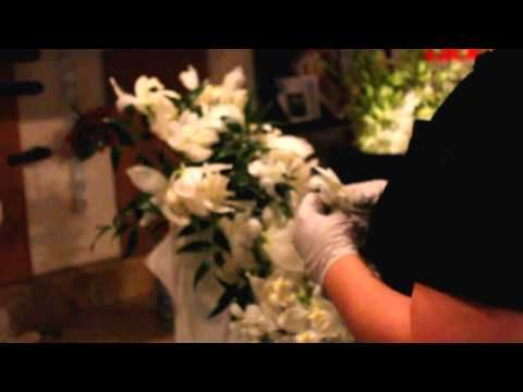 How To Make A Cascade Bridal Bouquet With Orchids Garden Roses
