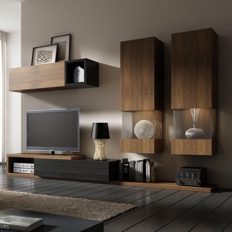Wohnwand Black Sun Fur Tvs Bis Zu 60 Mobel Wohnzimmer Wohnen