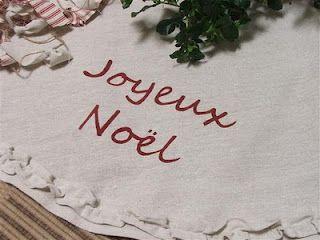 Christmas tree drop cloth ruffle skirt
