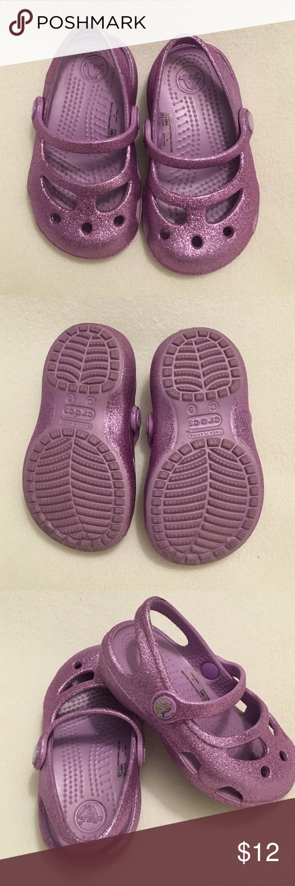 Kids crocs Excellent used condition. Worn 2 times. Just a little scratch on the right side button, check picture. CROCS Shoes Sandals & Flip Flops