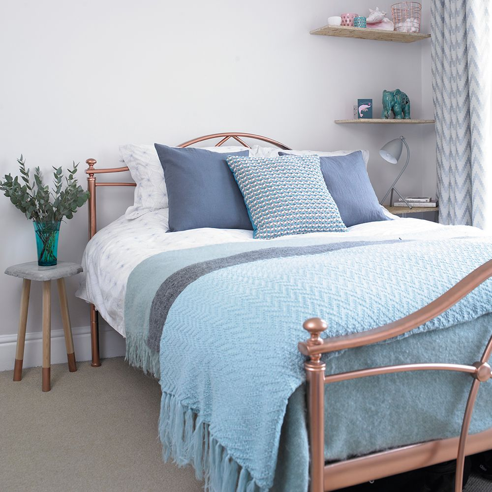 Pale Grey Bedroom Pale Grey Bedroom With Bedding In Mix Of Blues Blue Bedroom