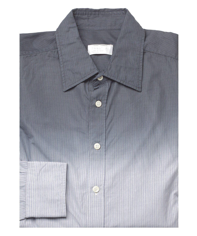 Prada Men S Dyed Spread Collar Cotton Dress Shirt