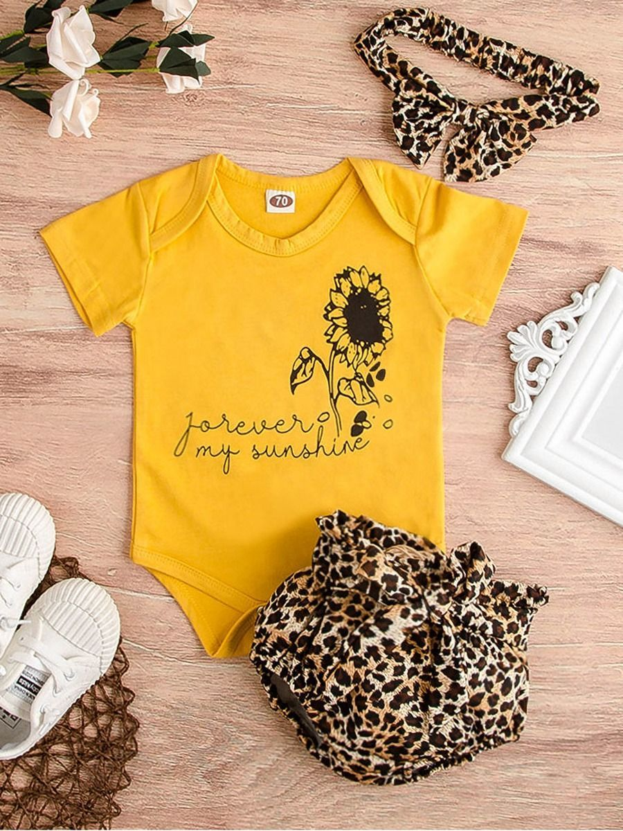 Leopard Print Kids Clothes Blue and Pink Baby Bummies Cute Newborn Baby Clothes Leopard Print Bummies Baby Boy Girl Unisex Summer Shorts