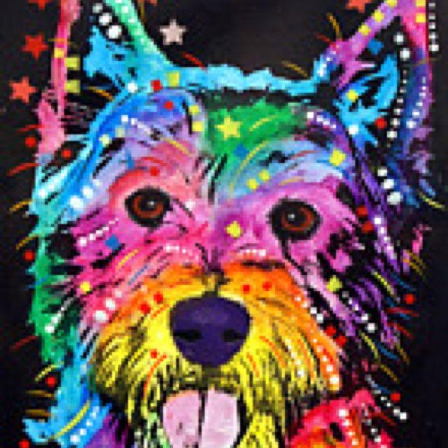 Painted Westie Art Pop Art Dean Russo Art