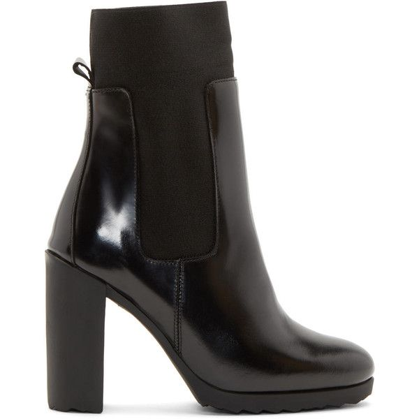 Pierre Hardy Black New Casual Ankle Boots (815 BRL) ❤ liked on Polyvore featuring shoes, boots, ankle booties, short boots, black ankle boots, black shootie, elastic ankle boots and ankle boots