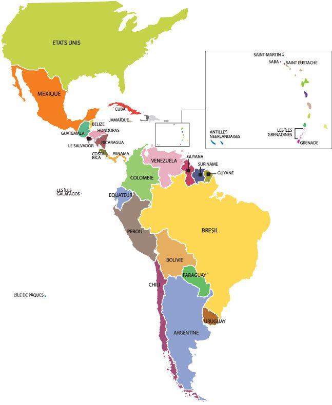 Carte Amerique Carte Amerique Carte Amerique