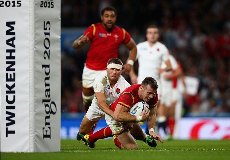 Gareth Davies Of Wales Goes Over To Score The Winning Try Rugby World Cup Rugby England V Wales