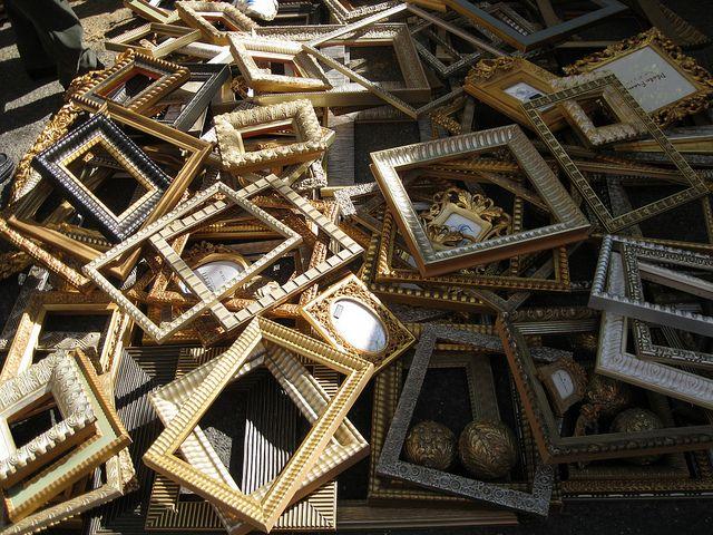 frames, Porta Portese flea market, Rome | Flickr - Photo Sharing!