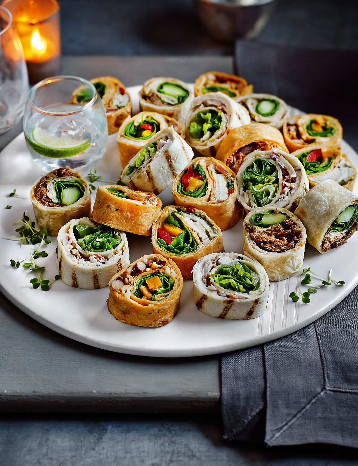 Party Essen Ideen Party Mini Wrap Slices (20 Pieces) | M&s | Fingerfood, Fingerfood Rezepte, Rezepte