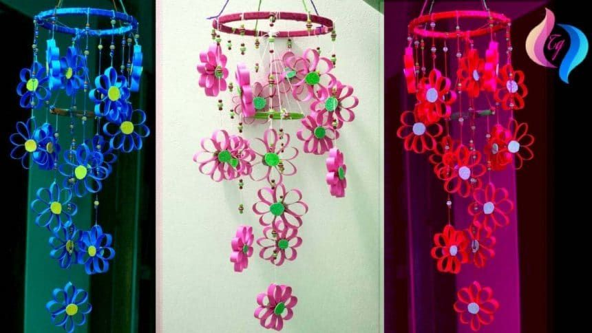 How To Make Wind Chimes Out Of Paper Simple Craft Ideas D I Y