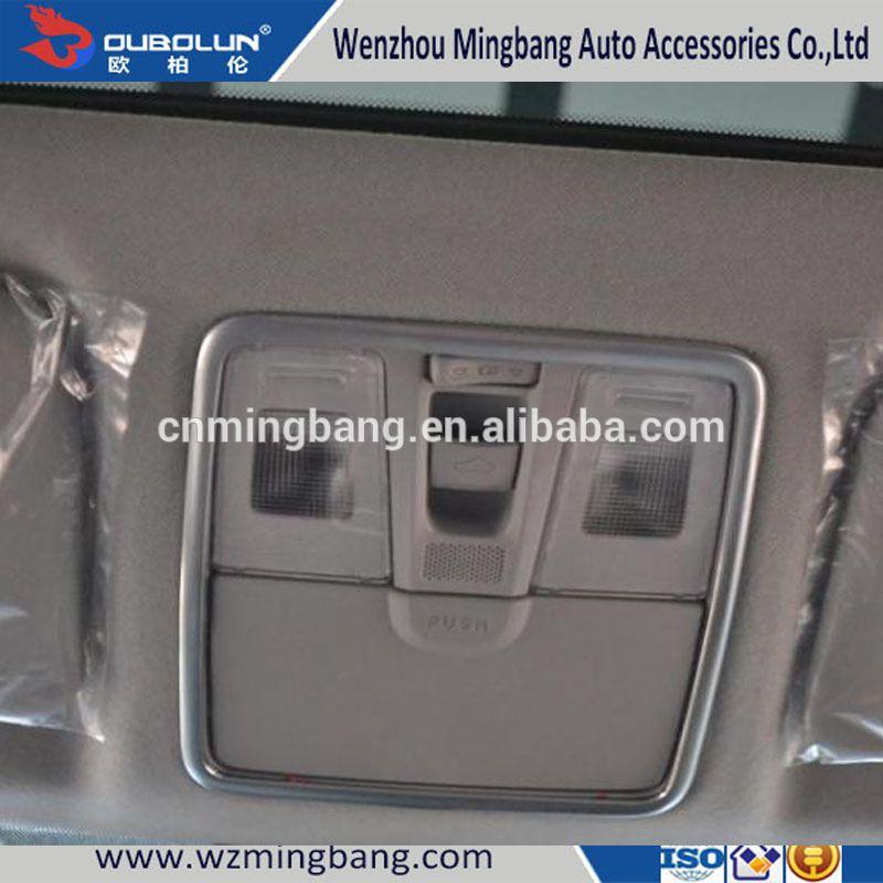Interior Decoration Chrome Reading Light Cover Lighting Cover For 2014 IX25 Creta Hyundai Car Accessories
