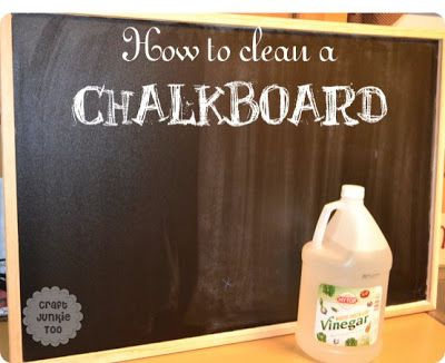 dab vinegar on a paper towel to clean stubborn chalkboard cleaning w the basics chalkboard. Black Bedroom Furniture Sets. Home Design Ideas
