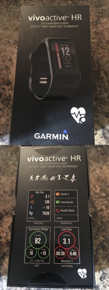 GPS and Running Watches 75230: *Brand New* Garmin Vivoactive Hr Monitor Black Regular Size Watch Free Shipping -> BUY IT NOW ONLY: $190 on eBay!