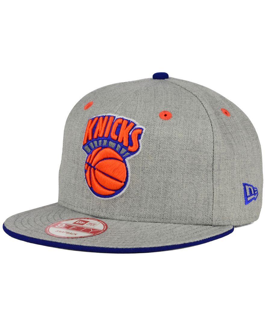 size 40 72073 3f538 New Era New York Knicks Heather 9FIFTY Snapback Cap