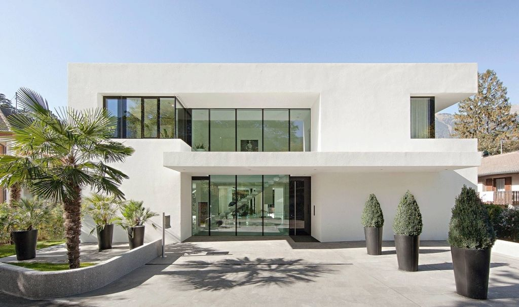 edle luxus villa in meran komplett in weiß jetzt neu, Innenarchitektur ideen