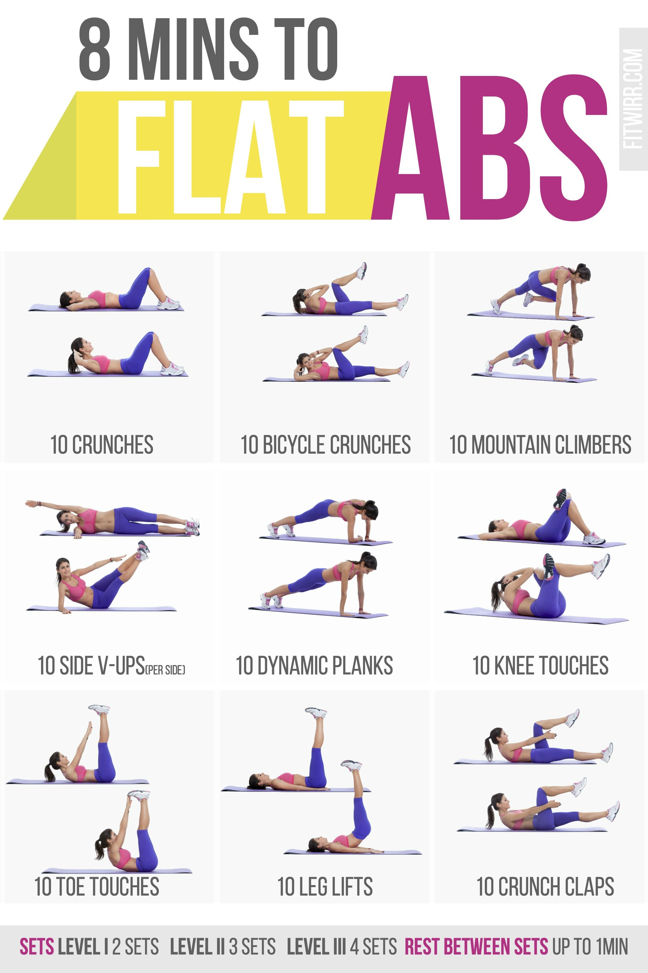 8 Minute Abs Workout Poster