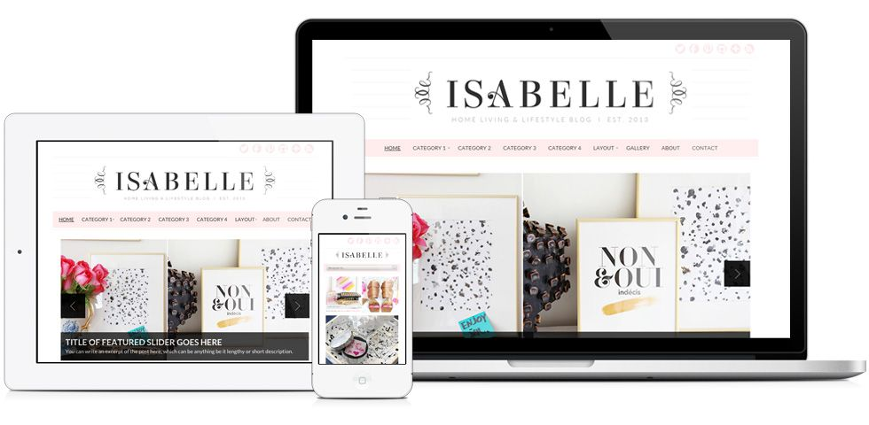 Isabelle Theme | Wordpress, Photography website templates and ...