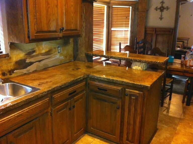 Refinish Old Formica Countertops With Concrete Overlay