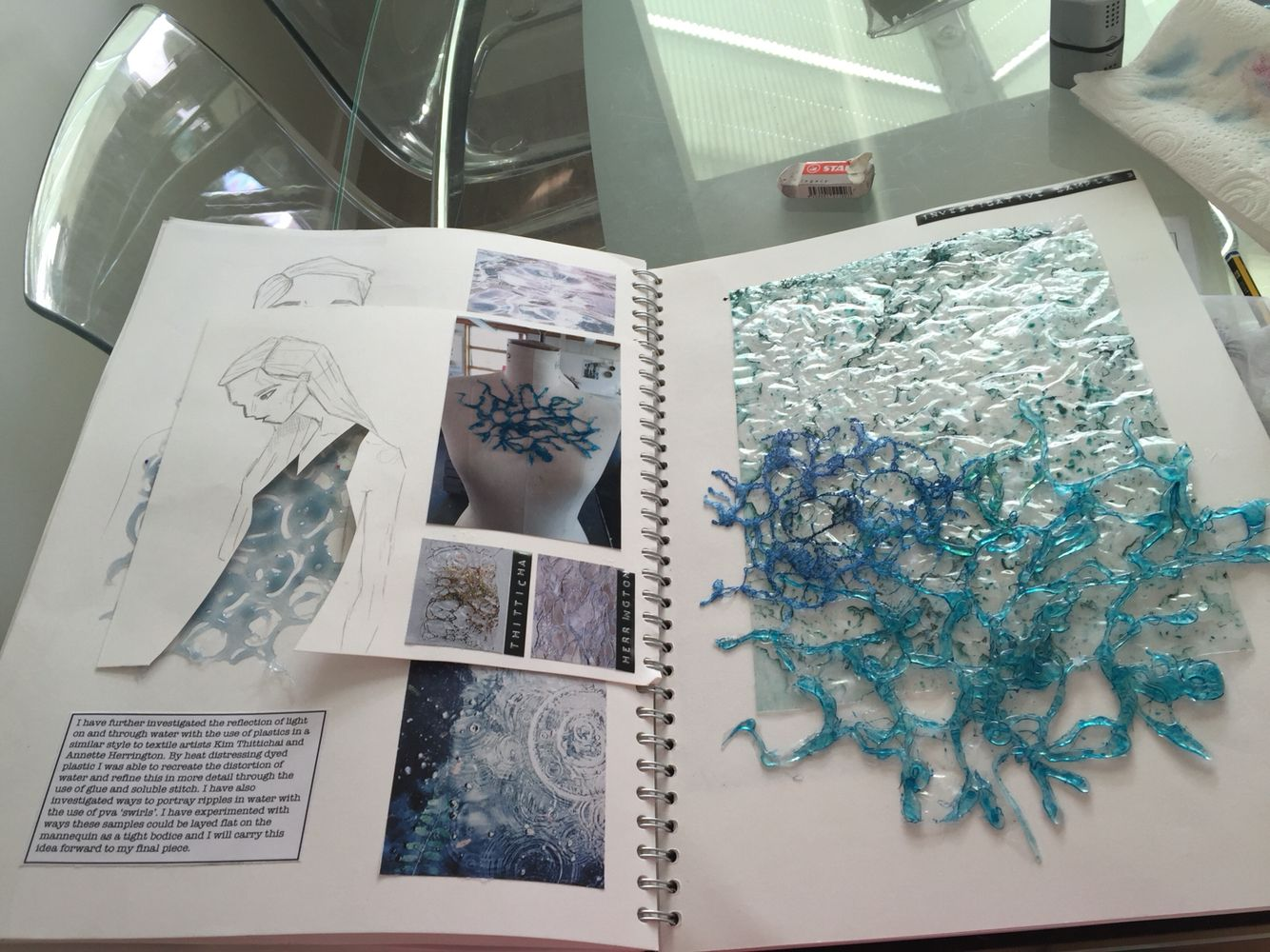 Sketchbook Page Investigative Water Sample Final Pages