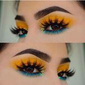 Photo of Tropisches Make-up, blauer und gelber Lidschatten #bluegorgeousmakeup #Makeup T – MAY