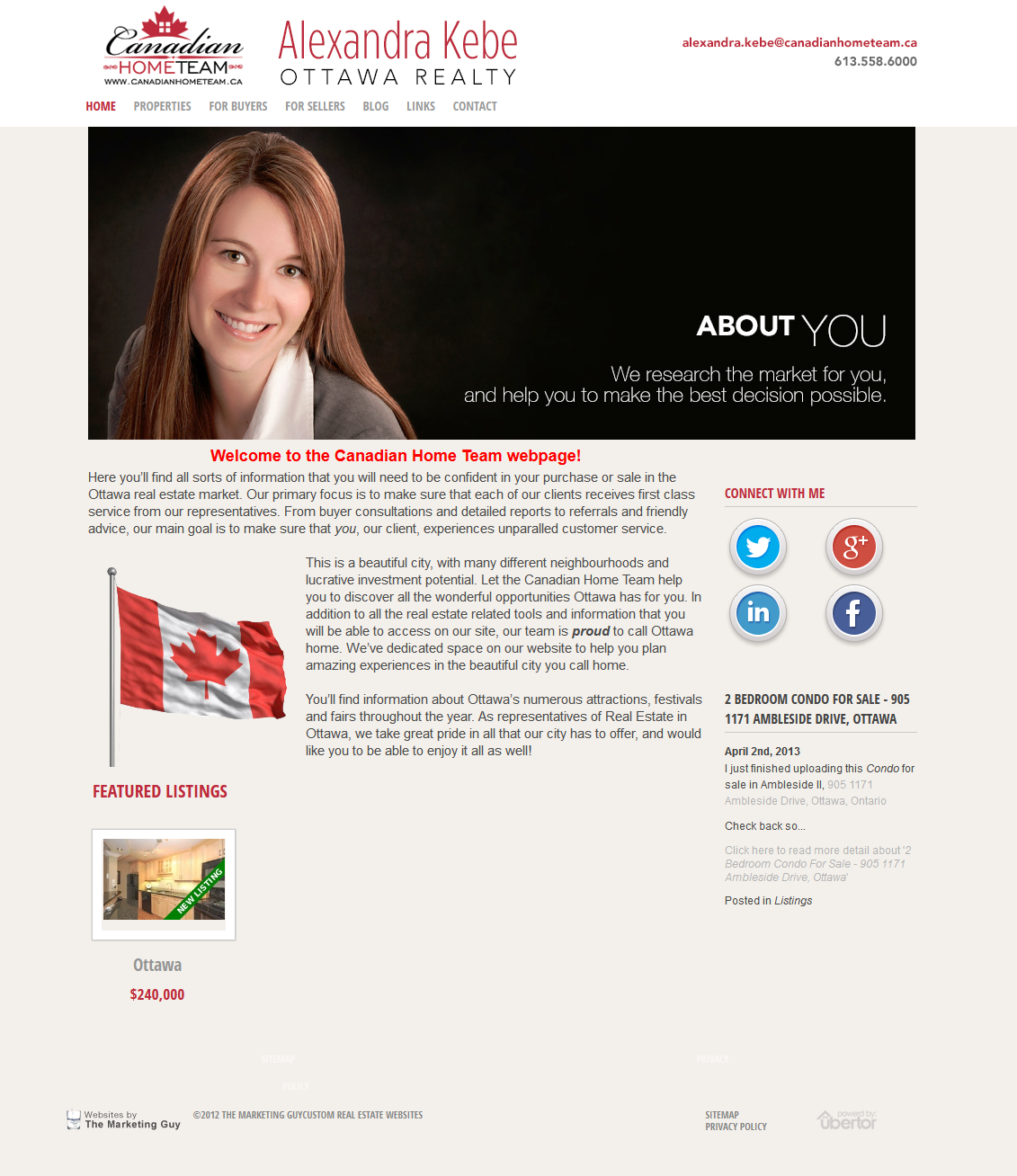 We just completed this new Ubertor custom website for Alexandra Kebe ...