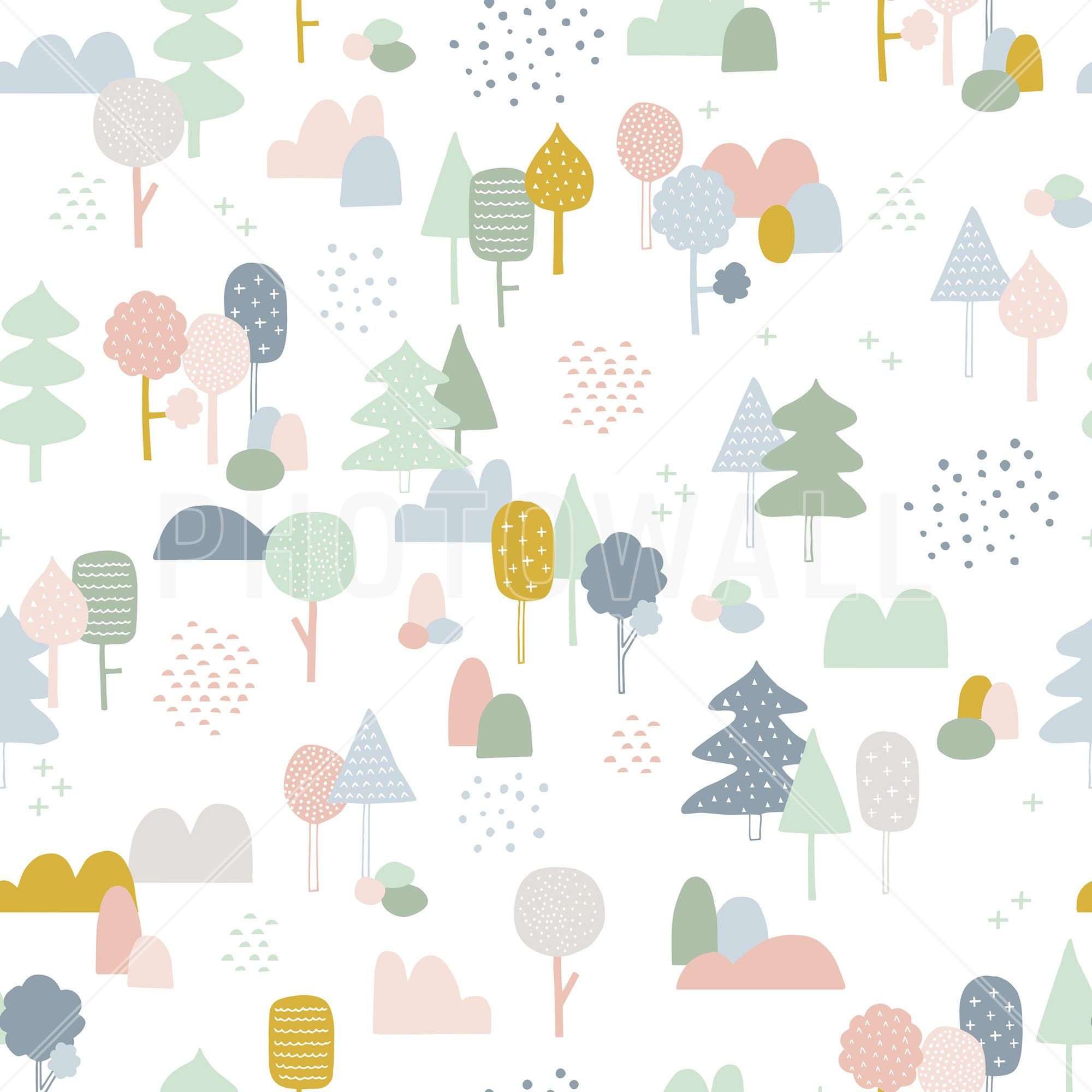 Woods Multi Wall Mural Photo Wallpaper Photowall Wallpaper Childrens Room Kids Wallpaper Scandinavian Wallpaper