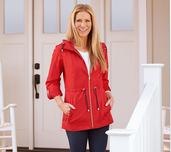 top-rated genuine on sale online best service Susan Graver Water Resistant Packable Anorak Jacket with ...
