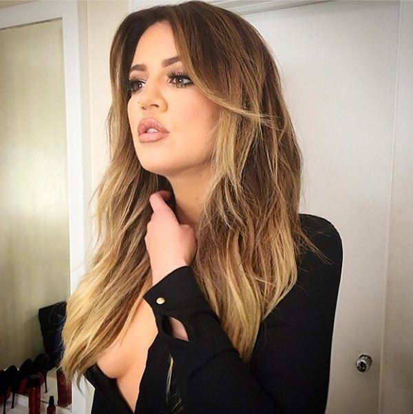 Khloe Kardashian Ombre August 2017