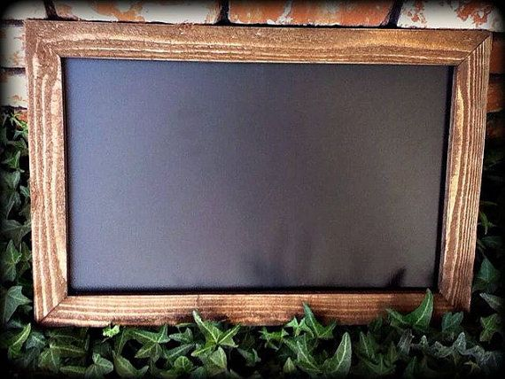 large 16x24 rustic chalkboard wood frame wedding table photo booth hunny do list