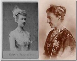 Viktoria of Baden, Queen Consort of Gustaf V of Sweden. The Baden Fringe Tiara