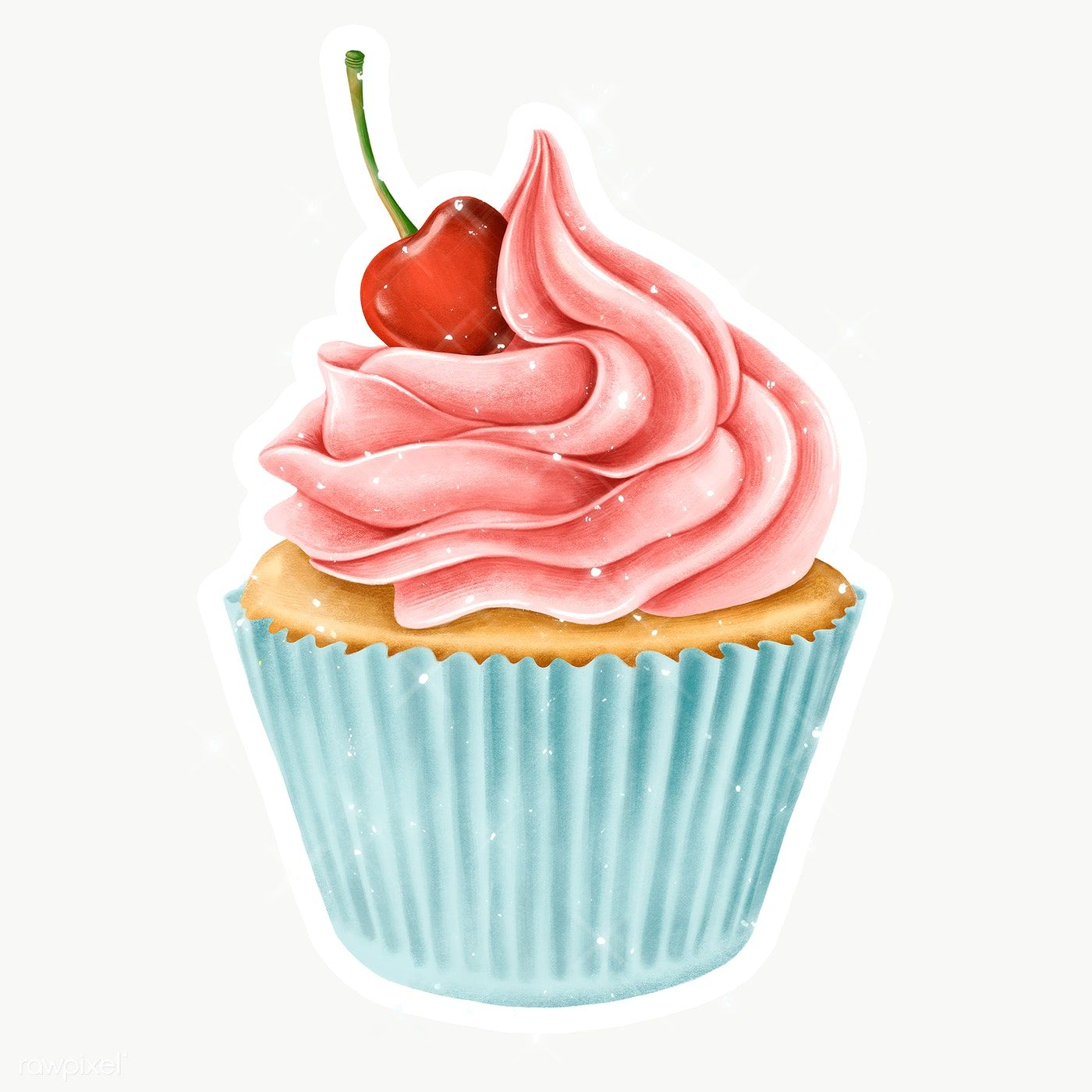 Cartoon Cupcake For Birthday Decoration Dessert Clipart Food Bakery Png And Vector With Transparent Background For Free Download Cartoon Cupcakes Cartoon Birthday Cake Happy Birthday Wishes Images