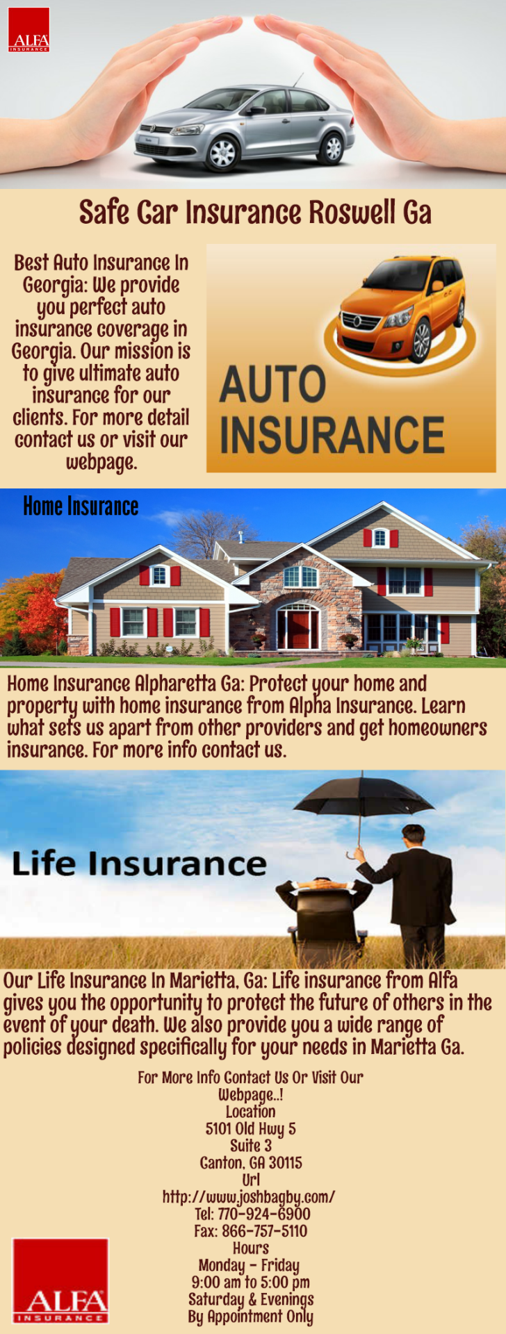 Alfa Insurance puts you more at ease by providing safe and