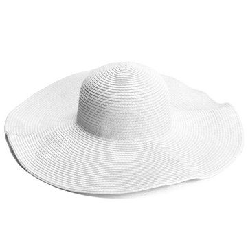 Female Summer Sunshade Large Wide Floppy Brim Straw Beach Hats With Images Straw Hat Beach Beach Hat