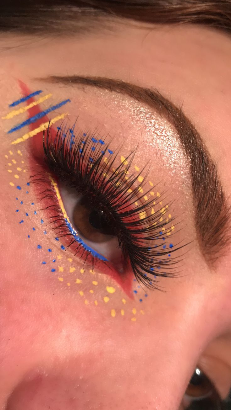 Primary Colors eyeshadow aesthetic look. (っ )っ ♥ Follow on