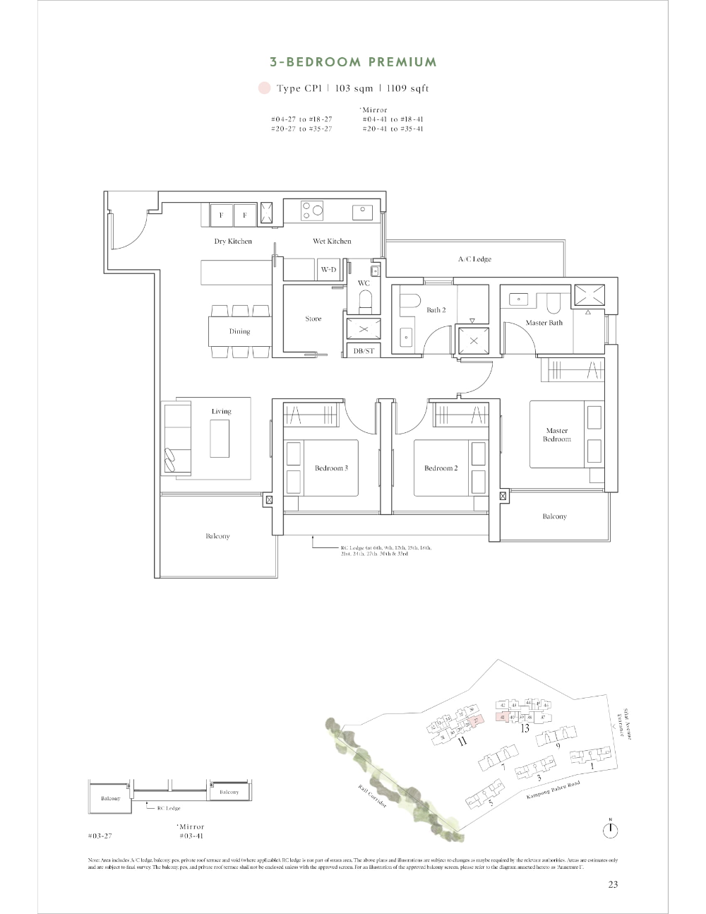 Site And Floor Plan Avenue South Residence Official Website Bernard Koh Sustainable Building Design Residences Cluster House