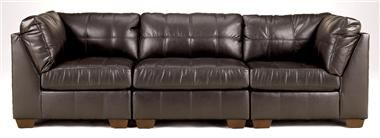 Signature Design by Ashley - 3 Pc Modular Sofa in Chocolate - San Michael Collection