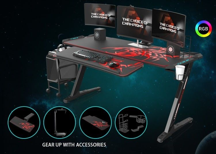 37 The Best Gaming Desk Decor Ideas With Computer Setup In 2020 Video Game Rooms Gaming Room Setup Game Room Decor